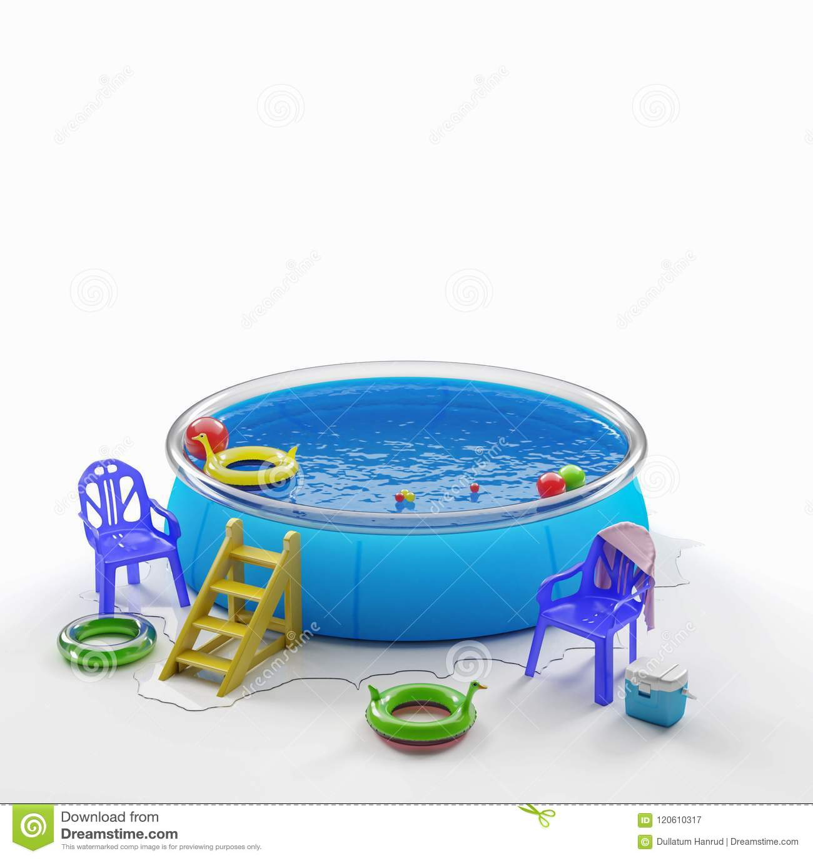 Opblaasbaar pool en speelgoed
