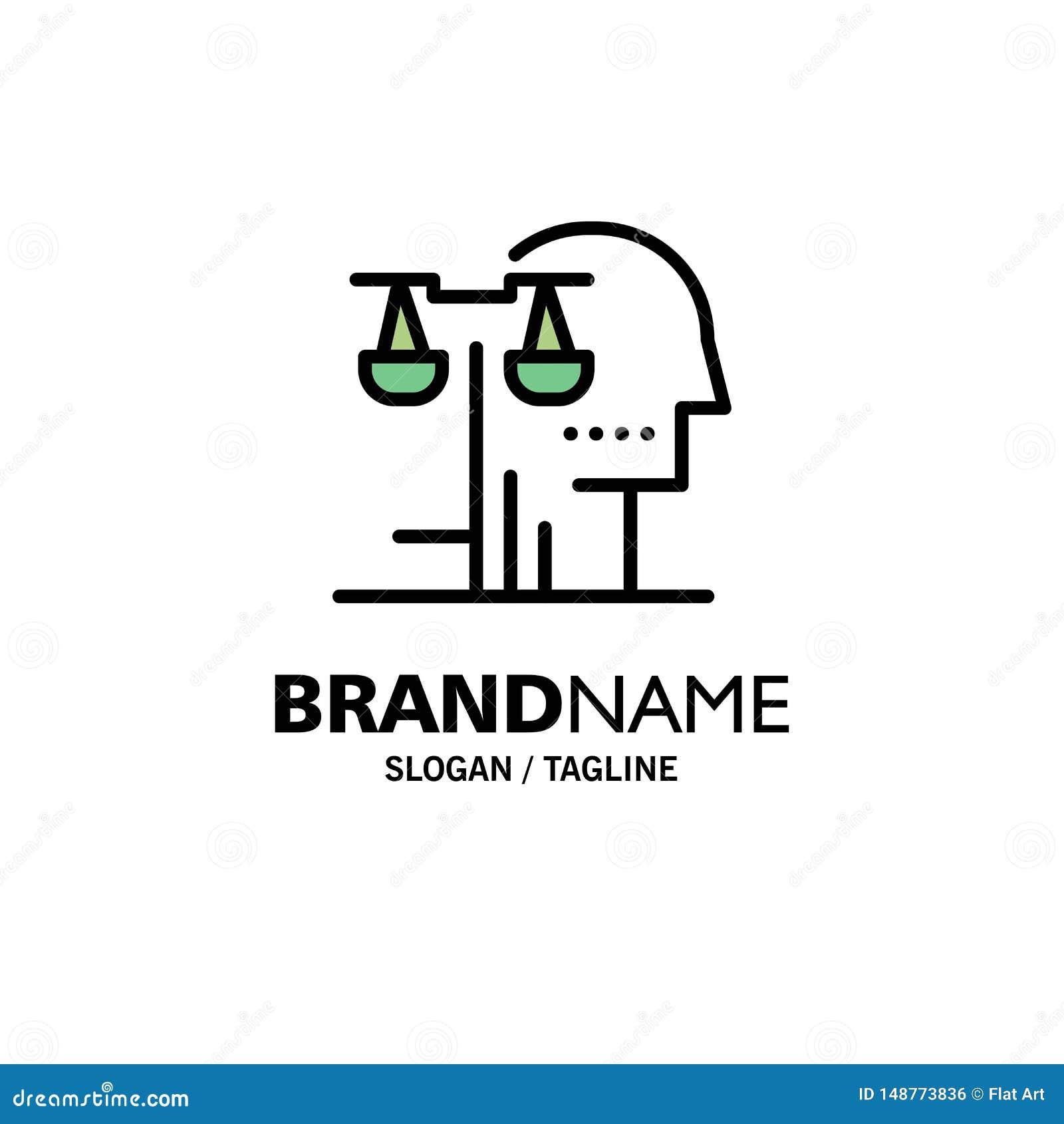 Opción, corte, ser humano, juicio, negocio Logo Template de la ley color plano