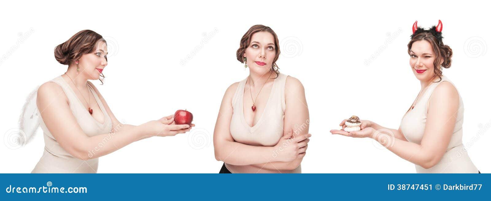 Opción entre la comida sana y malsana