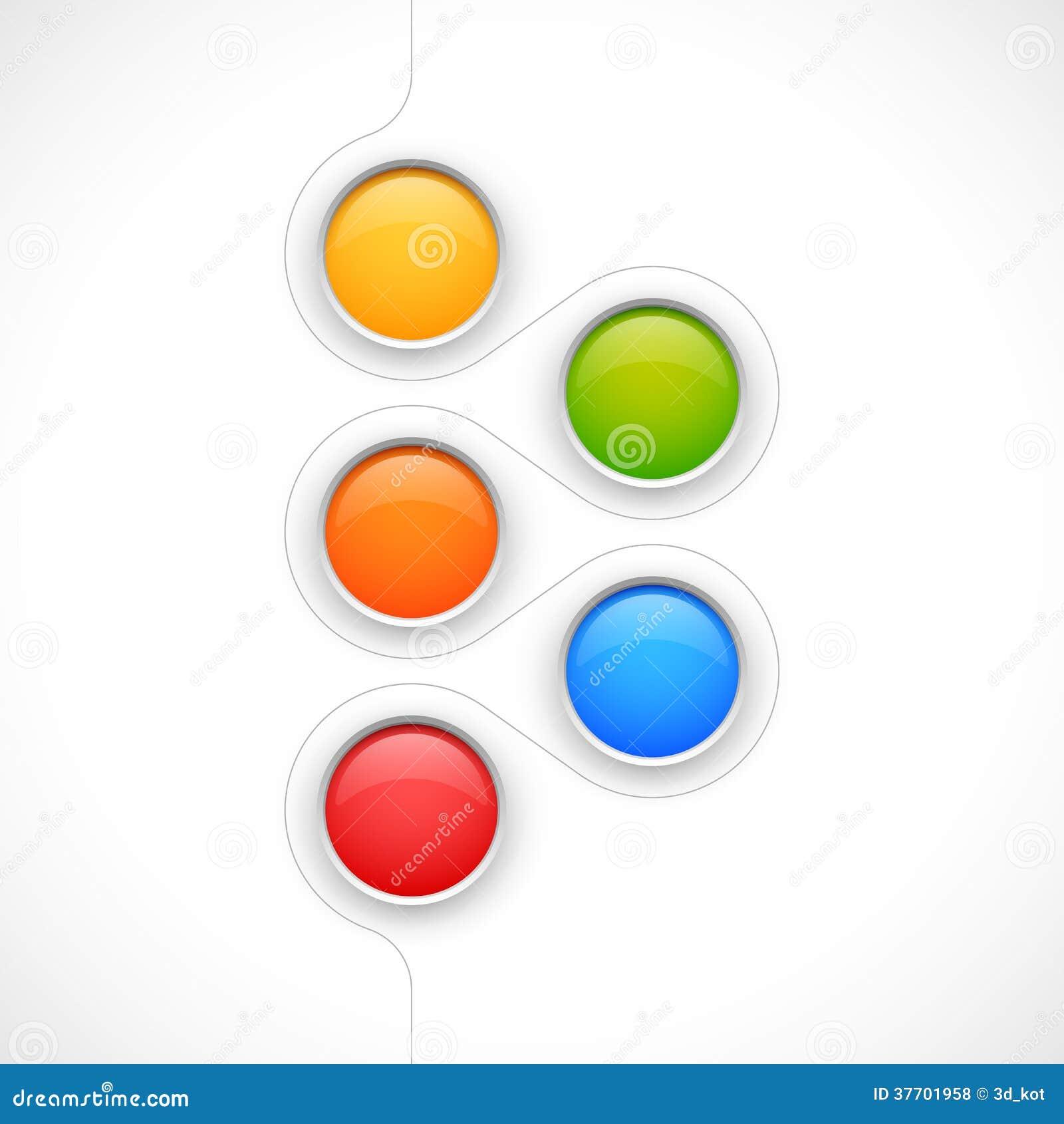 Opciones coloridas modernas de los círculos