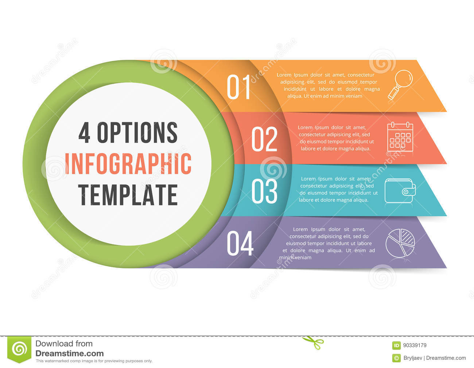 4 opciones Infographics