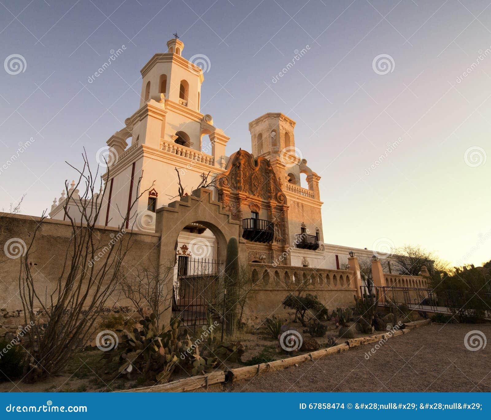 Opdracht San Xavier del Bac in Tucson, Arizona