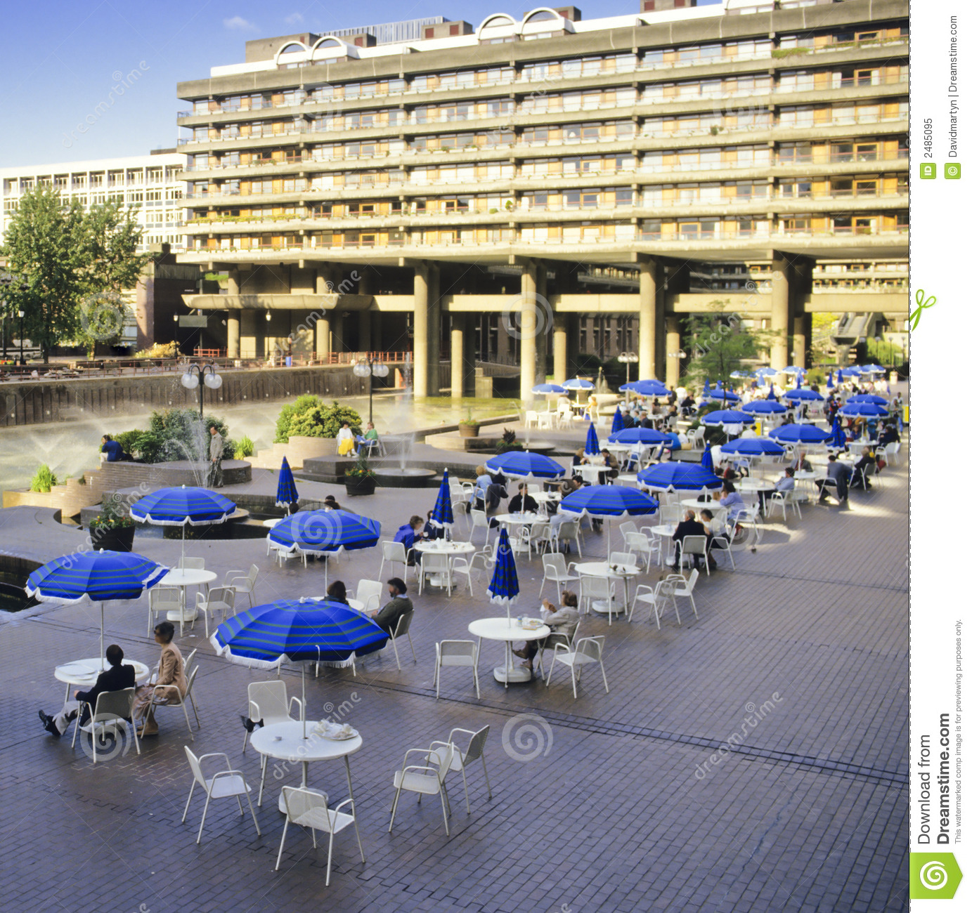 Open air cafe stock image. Image of apartments, city ...