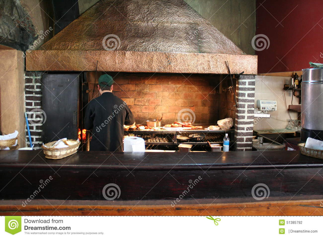 Open aire grill in antigua guatemala restaurant stock photo image 51385792 - Charcoal grill restaurant ...