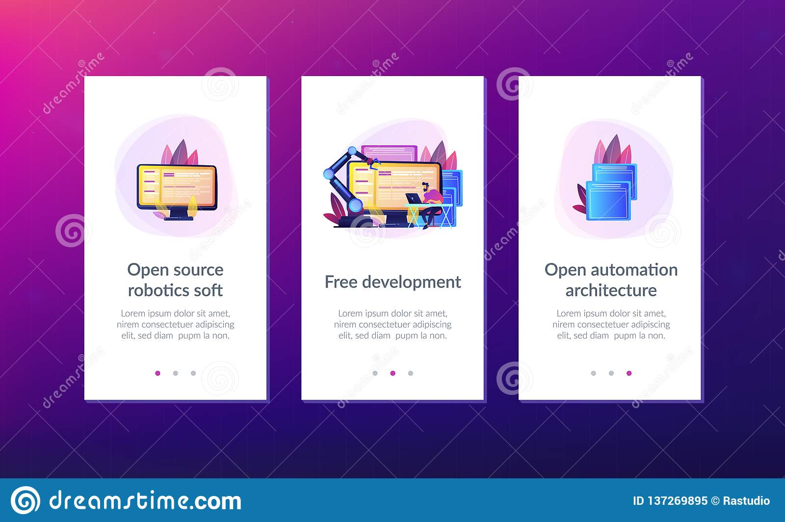 Open Automation Architecture App Interface Template  Stock