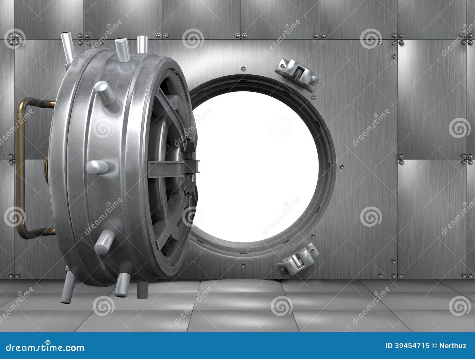 Open Bank Vault Door Stock Photography Cartoondealer Com