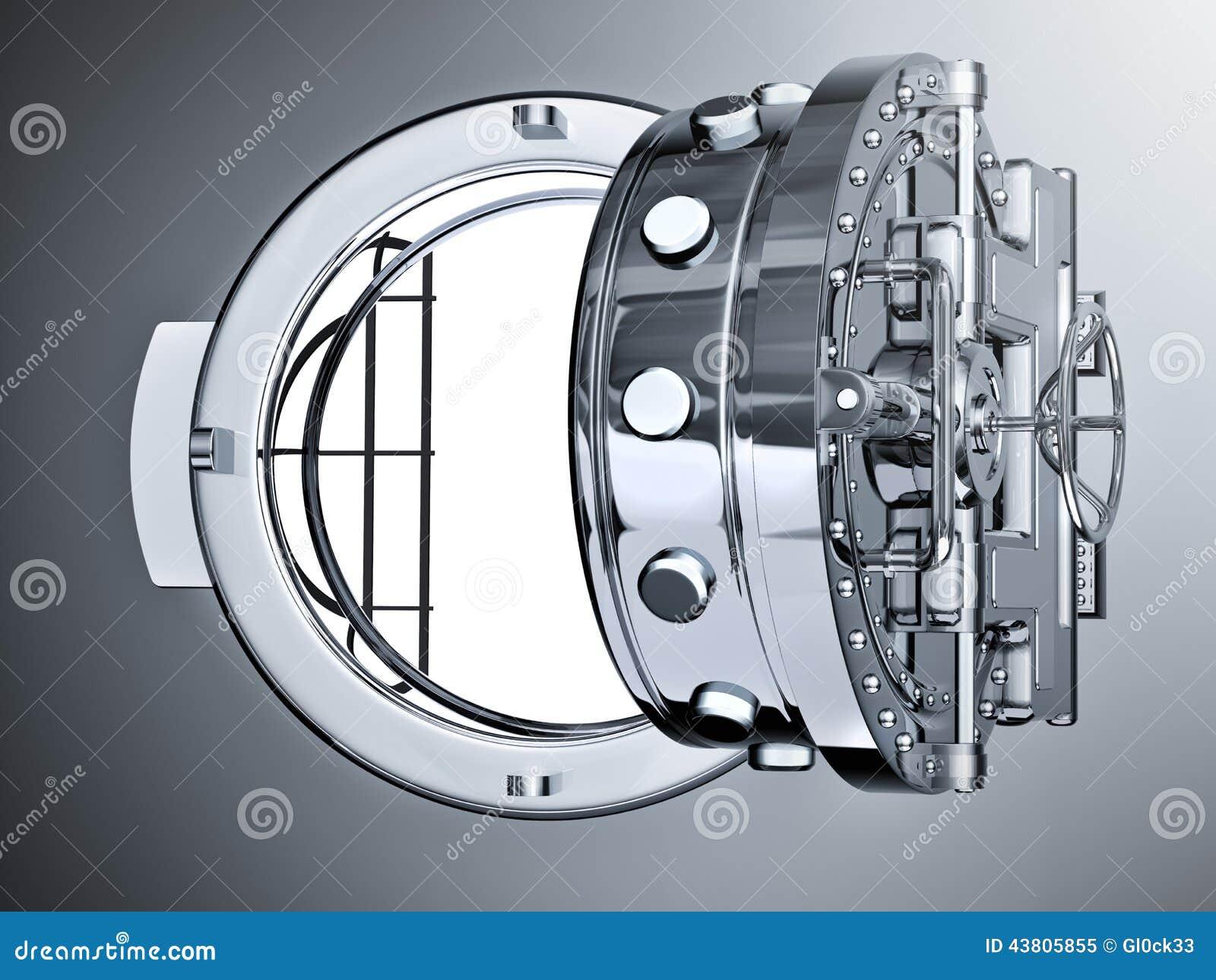 Open Bank Vault Door Stock Illustration Image 43805855