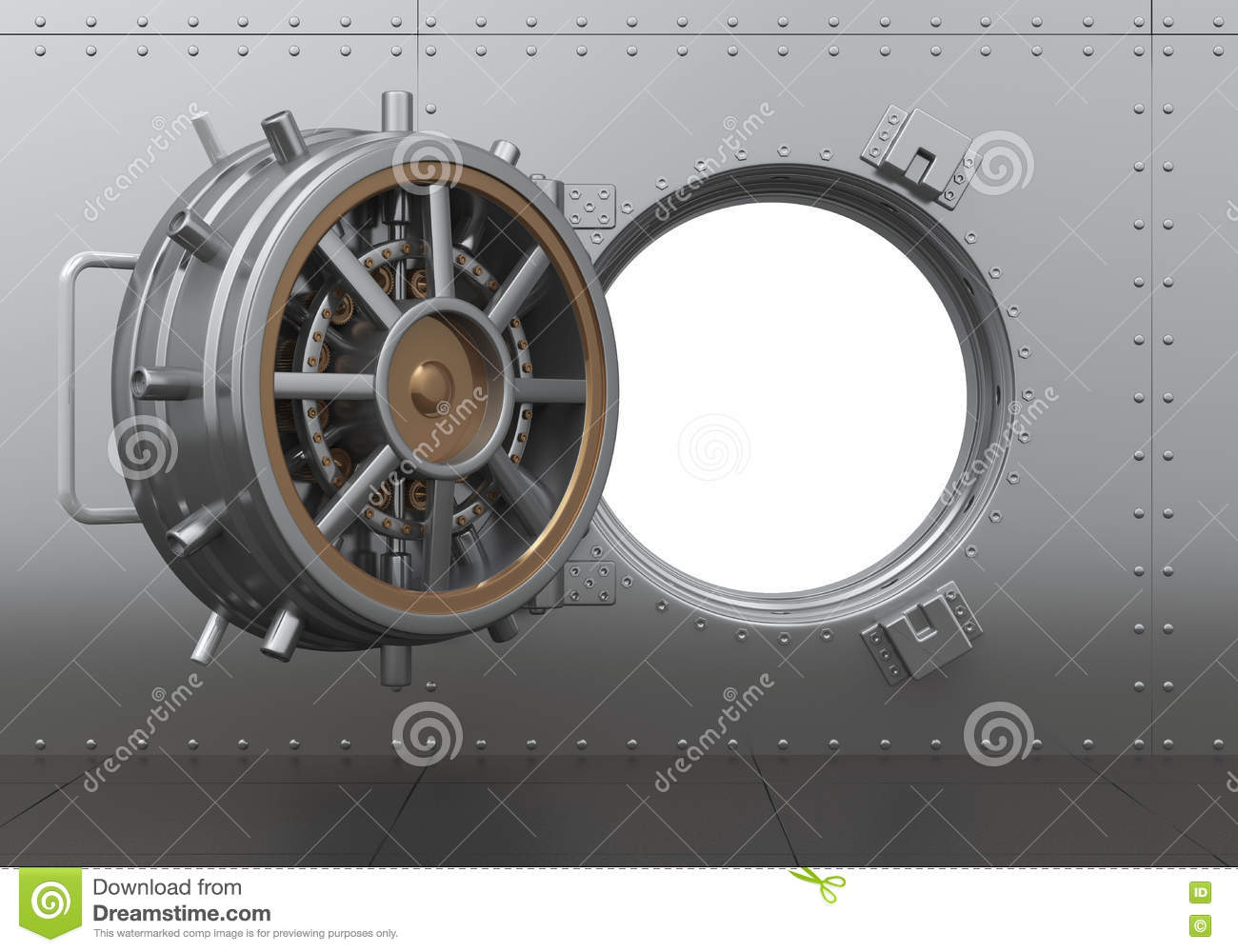 Open Bank Vault Door Stock Photography Cartoondealer Com