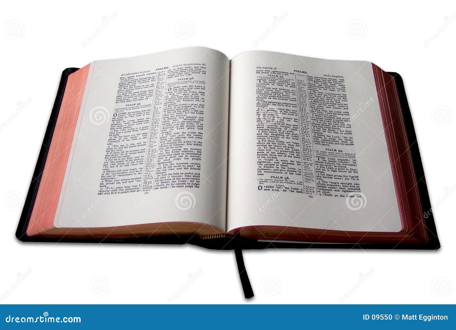 Open Bible Stock Photo Image 9550