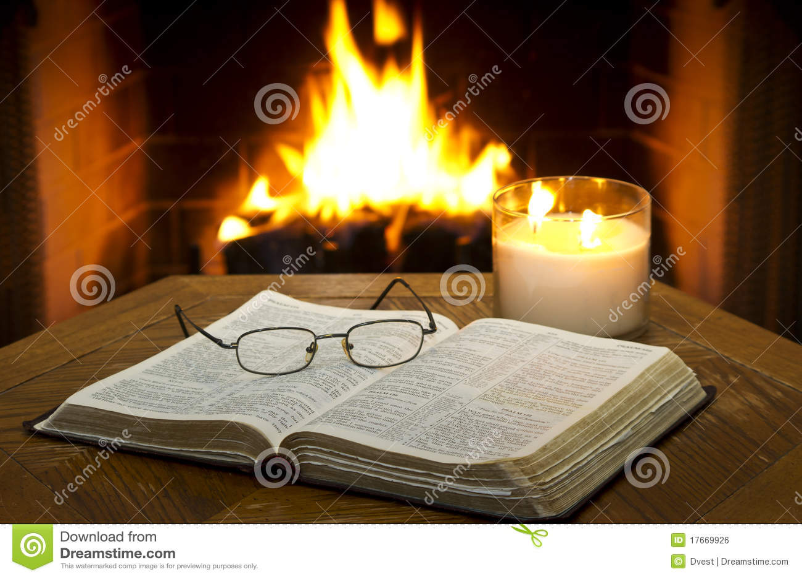 Open Bible stock photo. Image of jesus, fireplace ...