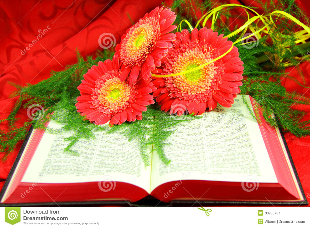 Open Bible And Flowers Royalty Free Stock Photography ...