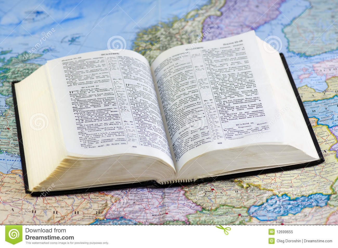 open bible on the map royalty free stock photo image 12699655