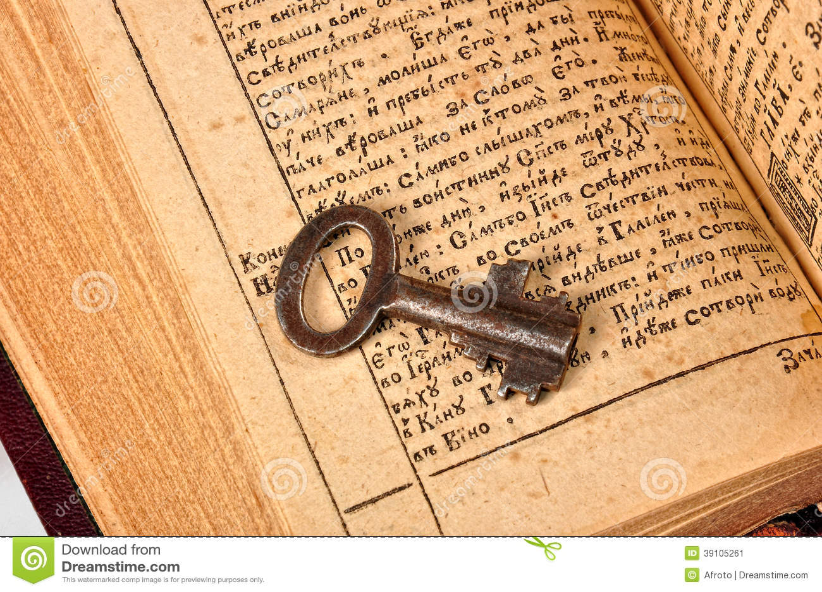 Open Bijbel met sleutel