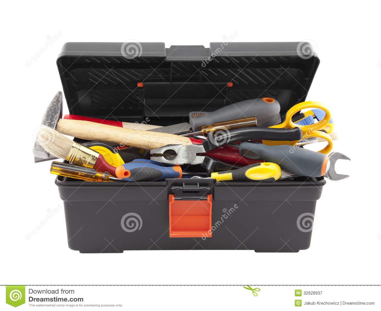 toolbox with tools cartoon vector cartoondealercom