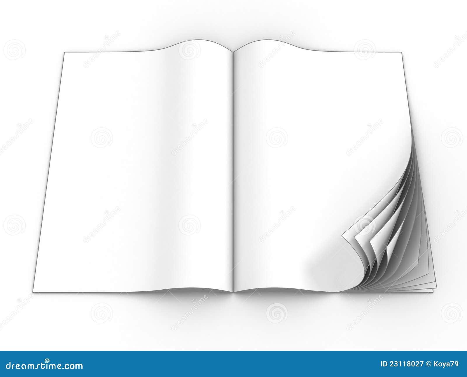 open blank magazine stock illustration  illustration of
