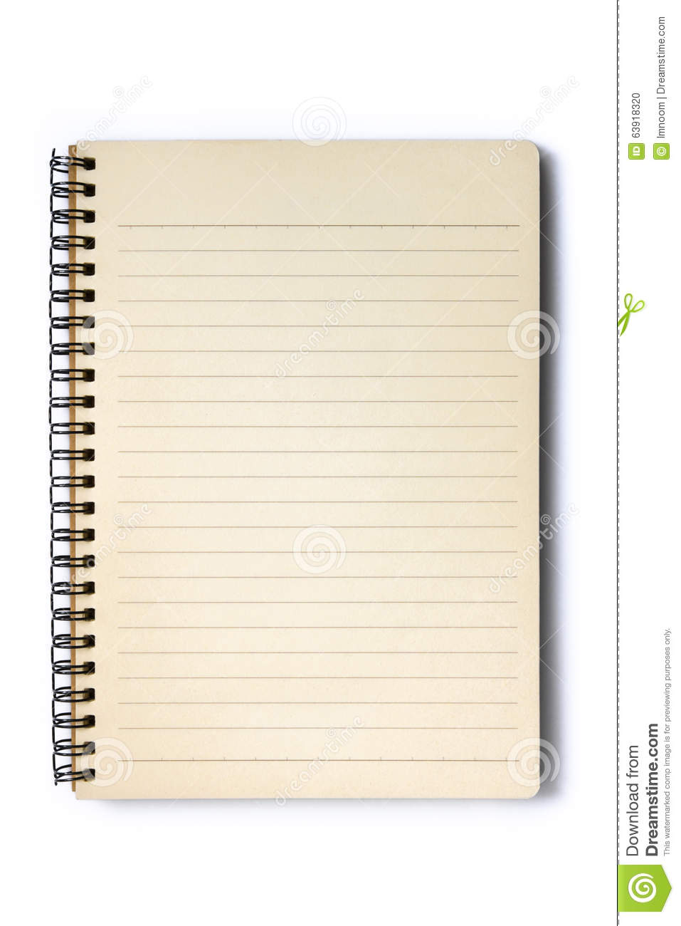 Open Blank Notebook Stock Photo - Image: 63918320