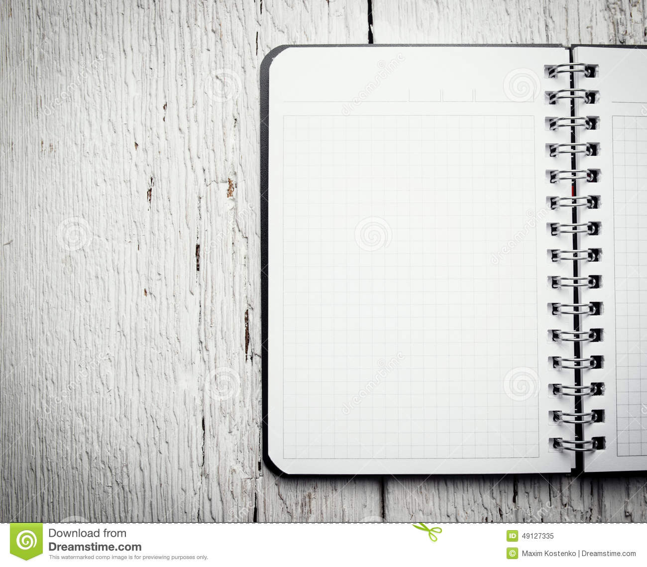 Open Blank Notepad With Empty White Pages Stock Image - Image of dark, color: 49127335
