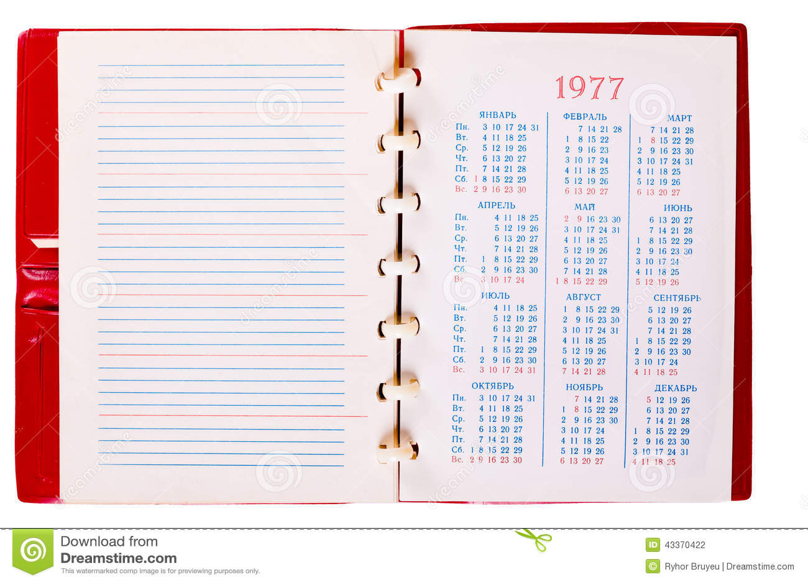 Spiral Notebook Paper Texture