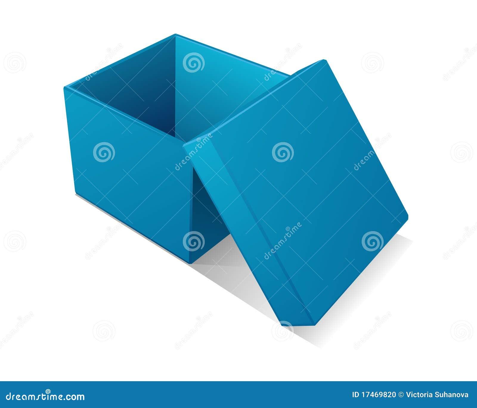 open blue gift box stock photo image 17469820. Black Bedroom Furniture Sets. Home Design Ideas