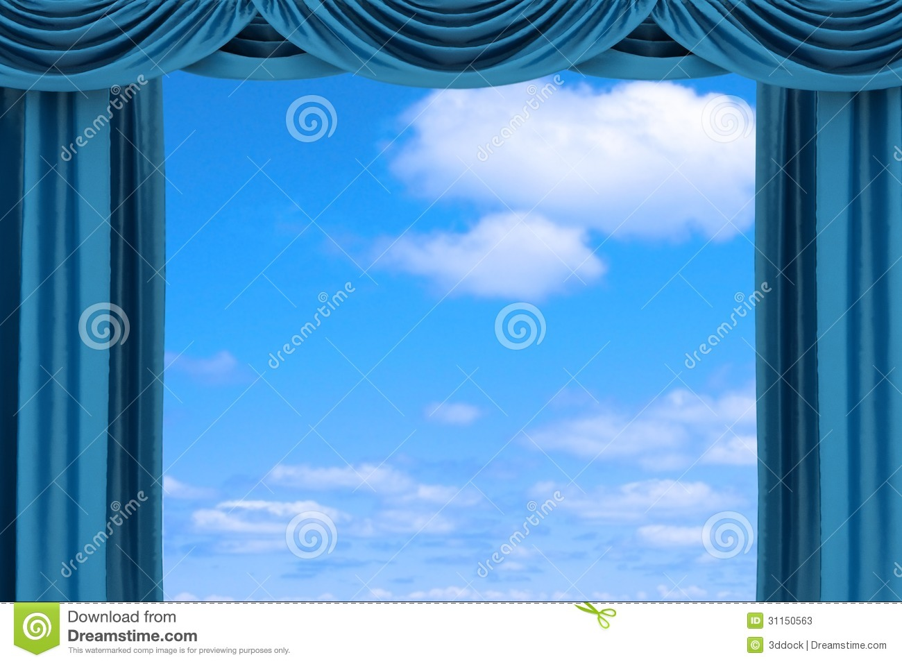 Blue curtain backdrop - Blue Theater Curtains Open Blue Theater Curtain Stock Photos