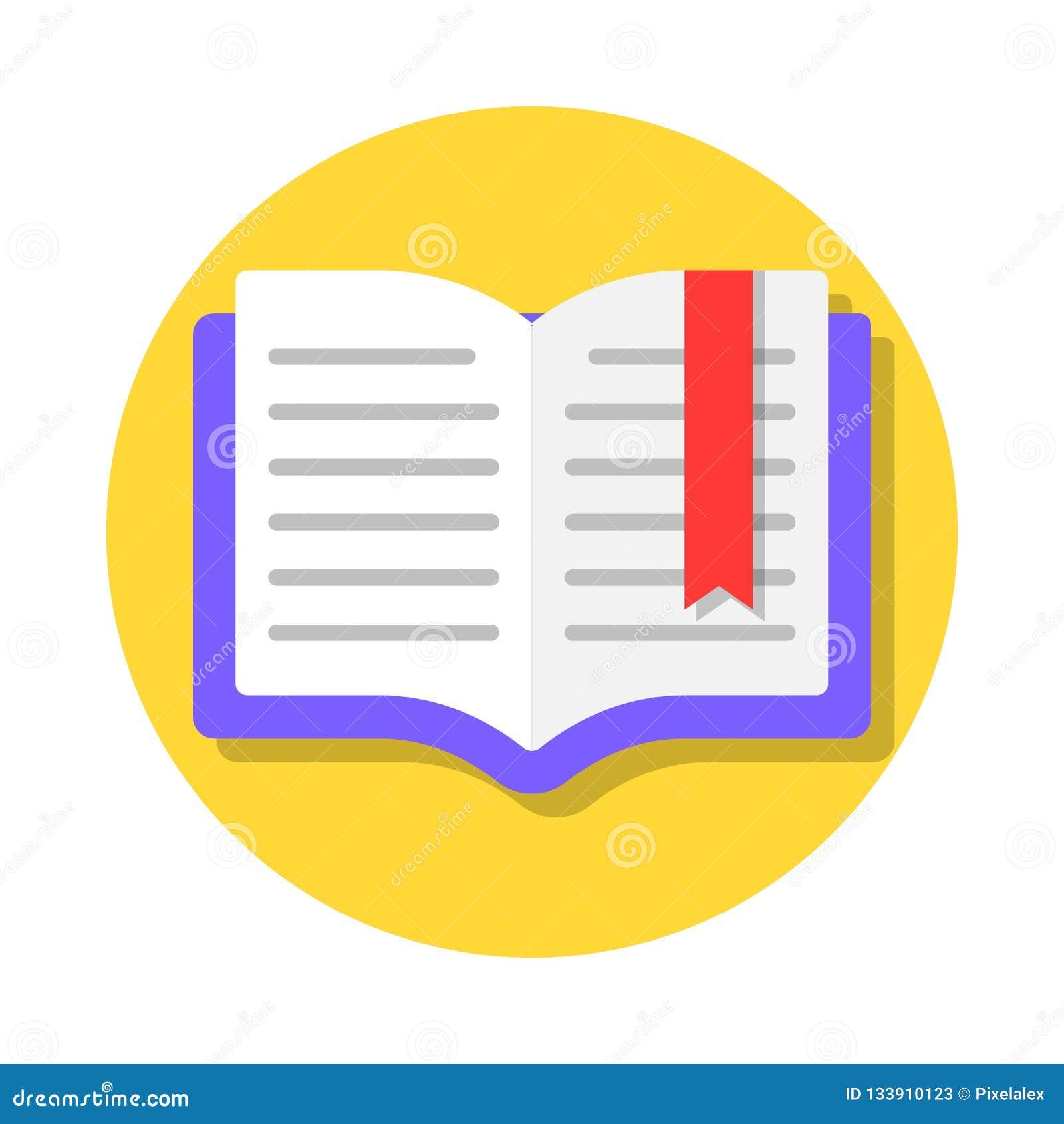 Open boek met referentie