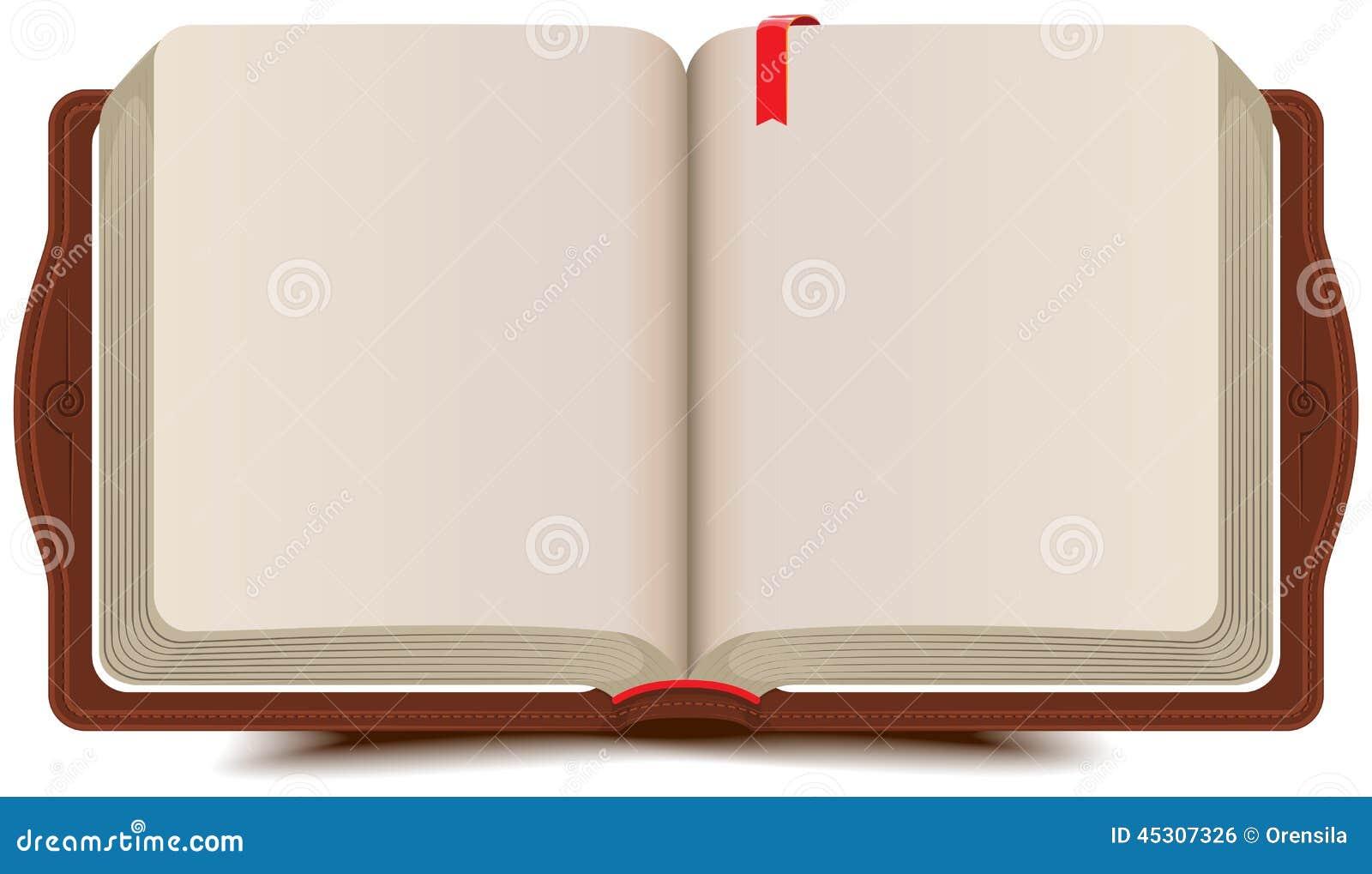 Open boekagenda met referentie