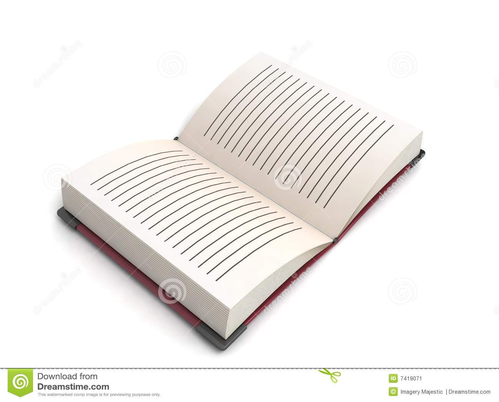 Open book stock illustration  Illustration of three, library - 7419071