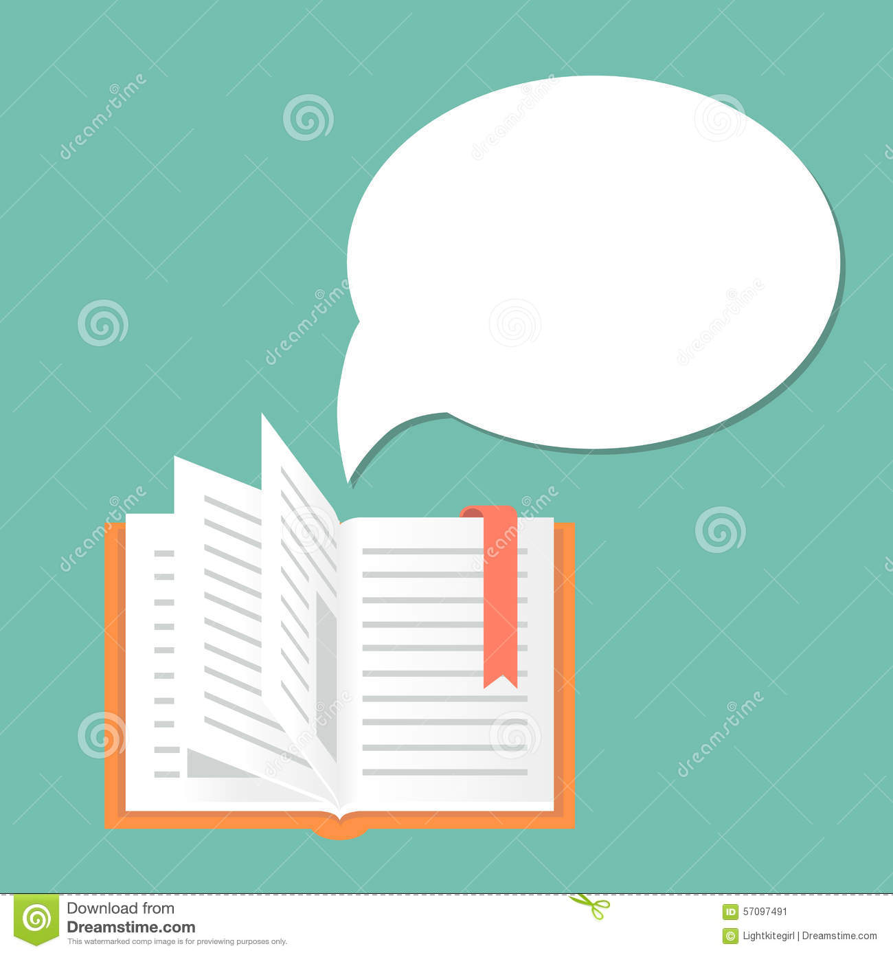 Open book background with speech bubble stock vector open book background with speech bubble pooptronica