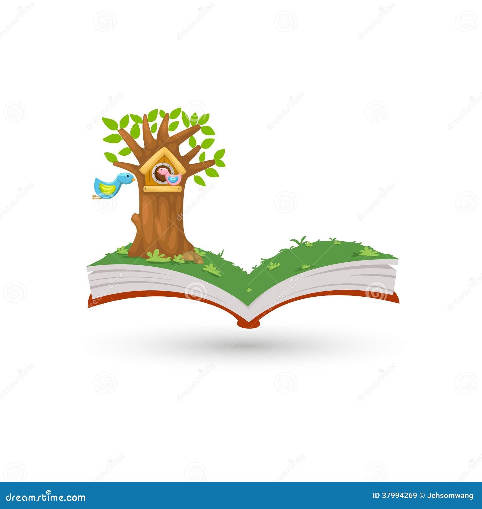 Open book in bird house royalty free stock images image - Casa del libro rivas ...