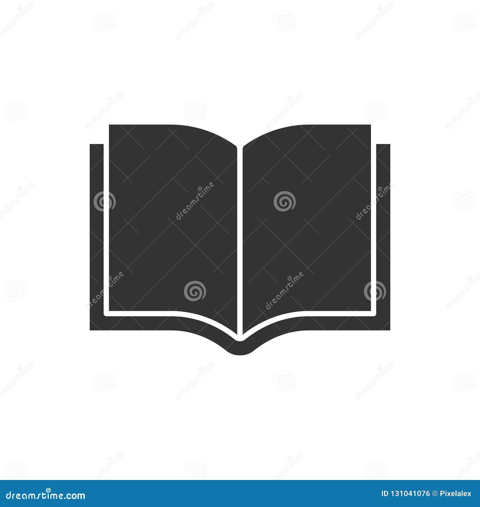 Open book black icon