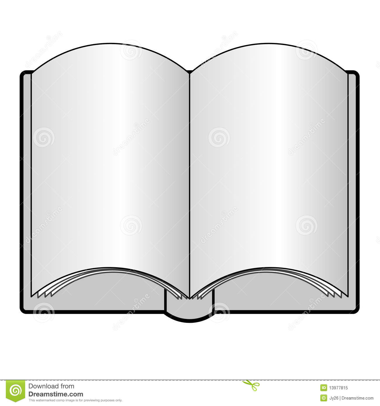 clipart open book blank pages - photo #40