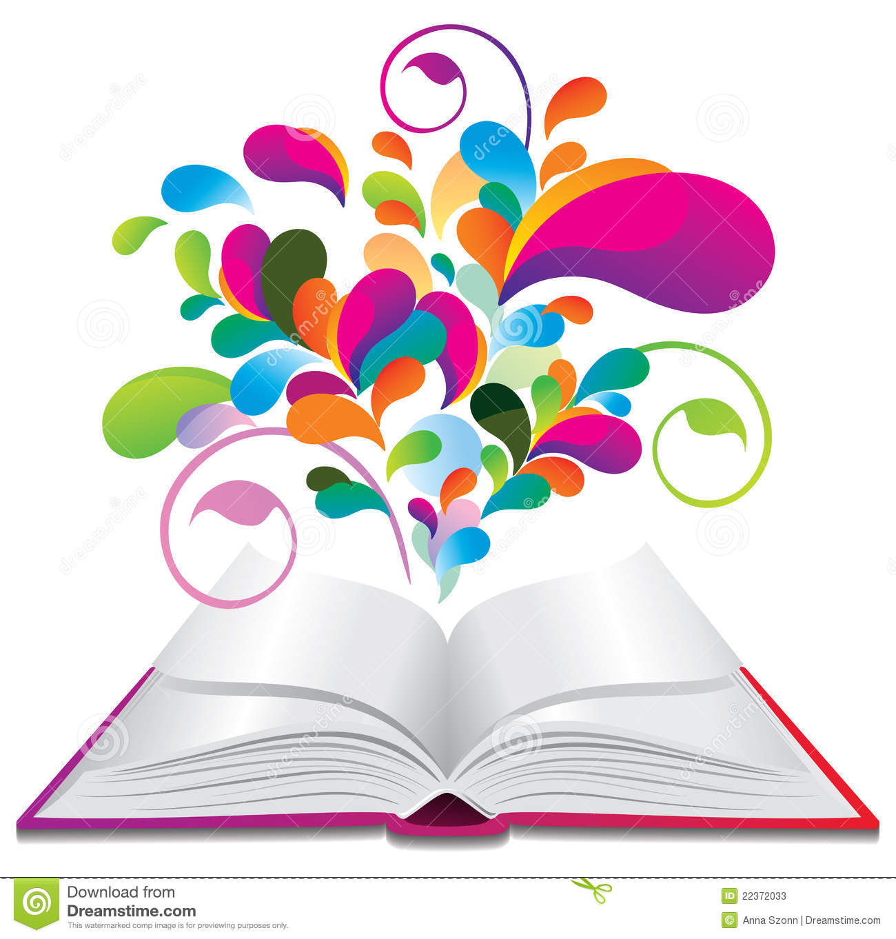 Open Book With Color Splash. Stock Vector - Illustration of ...