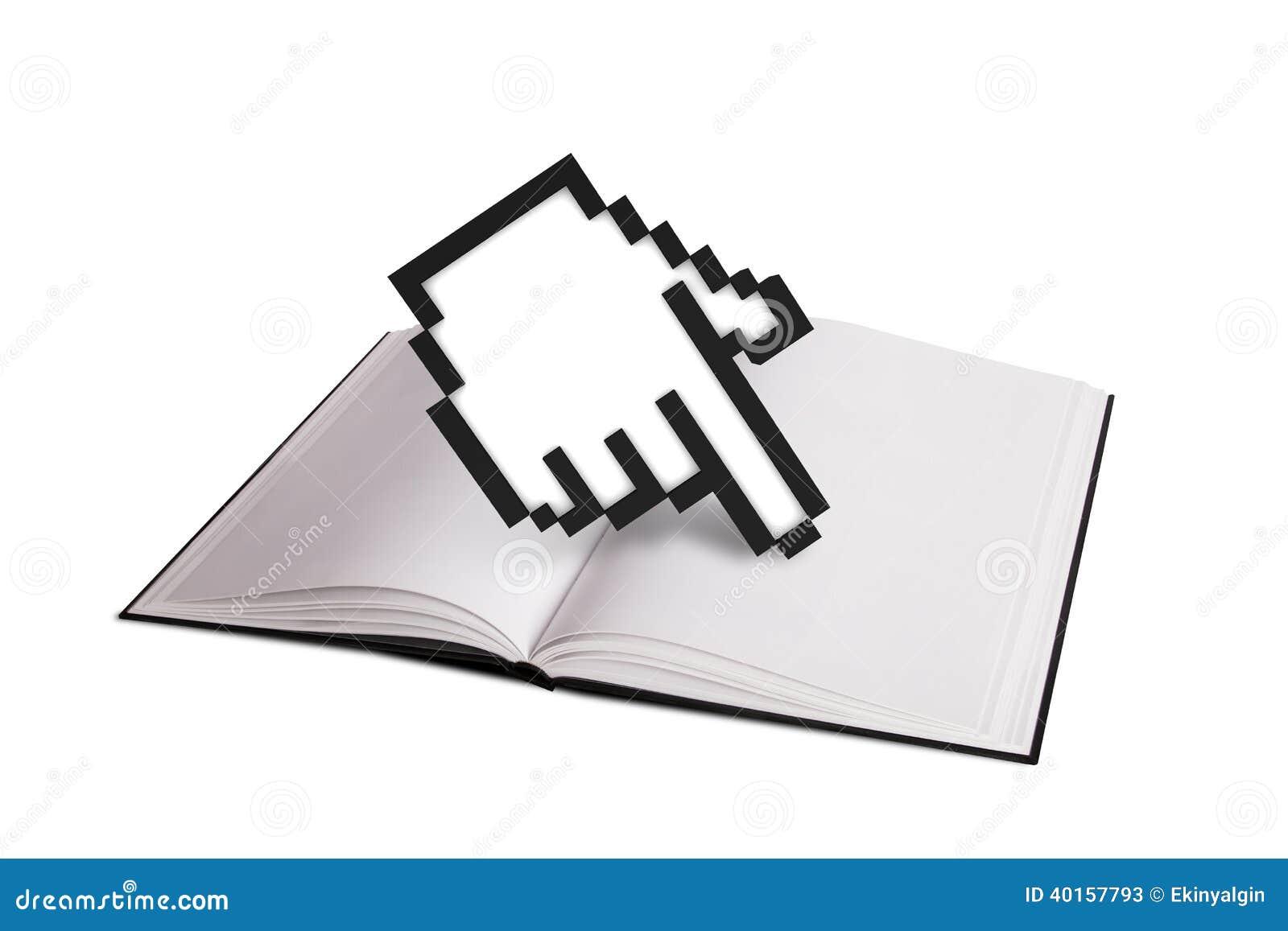Open Hand Cursor Open Book and Hand Cursor