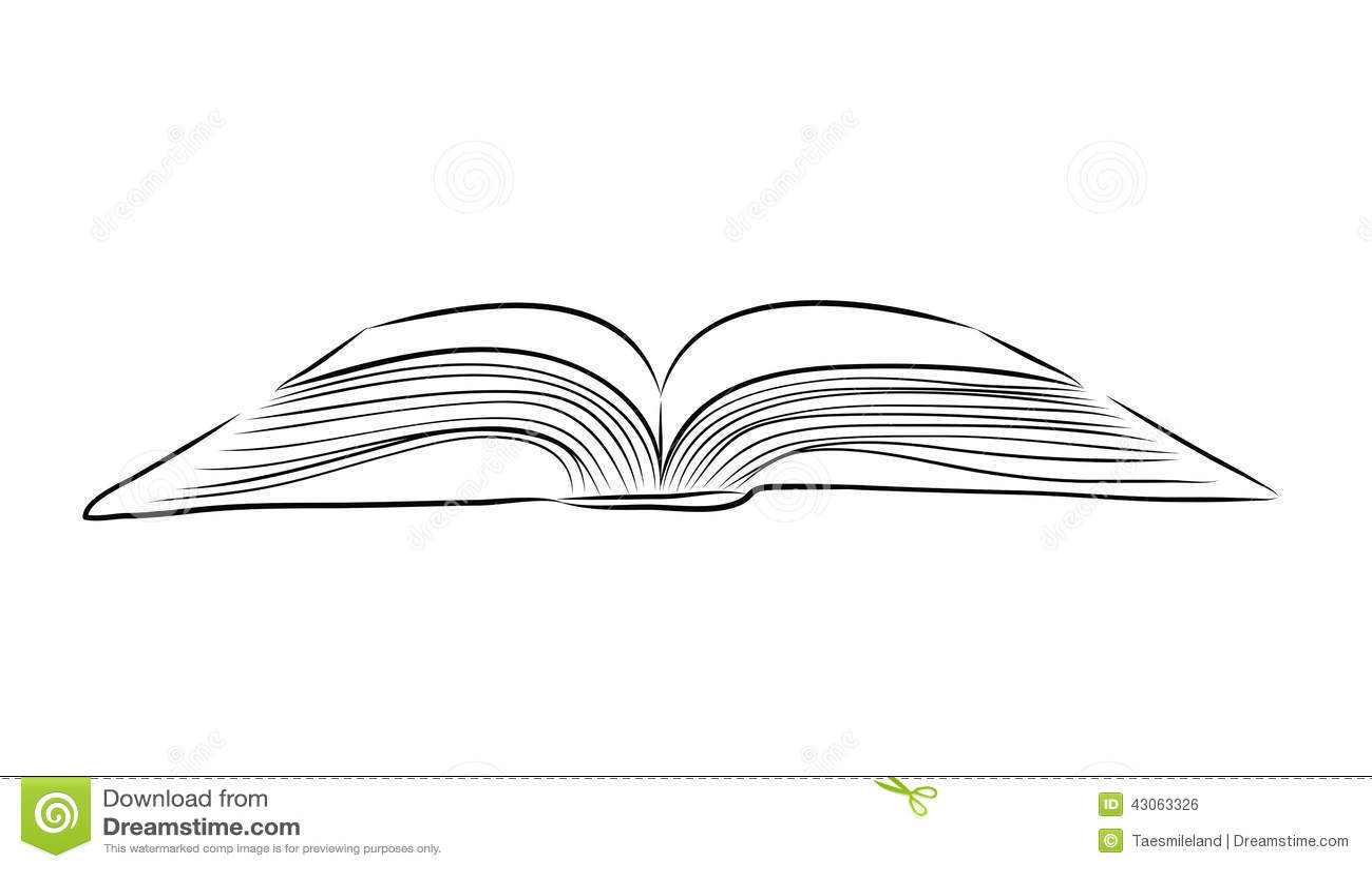 Open Book Sketch Wwwgalleryhipcom The Hippest Pics