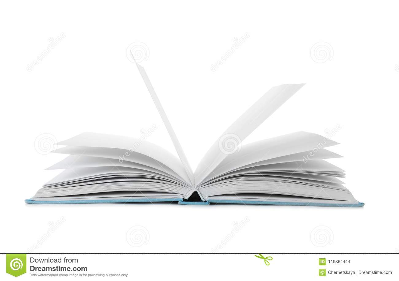 Open book with hard cover