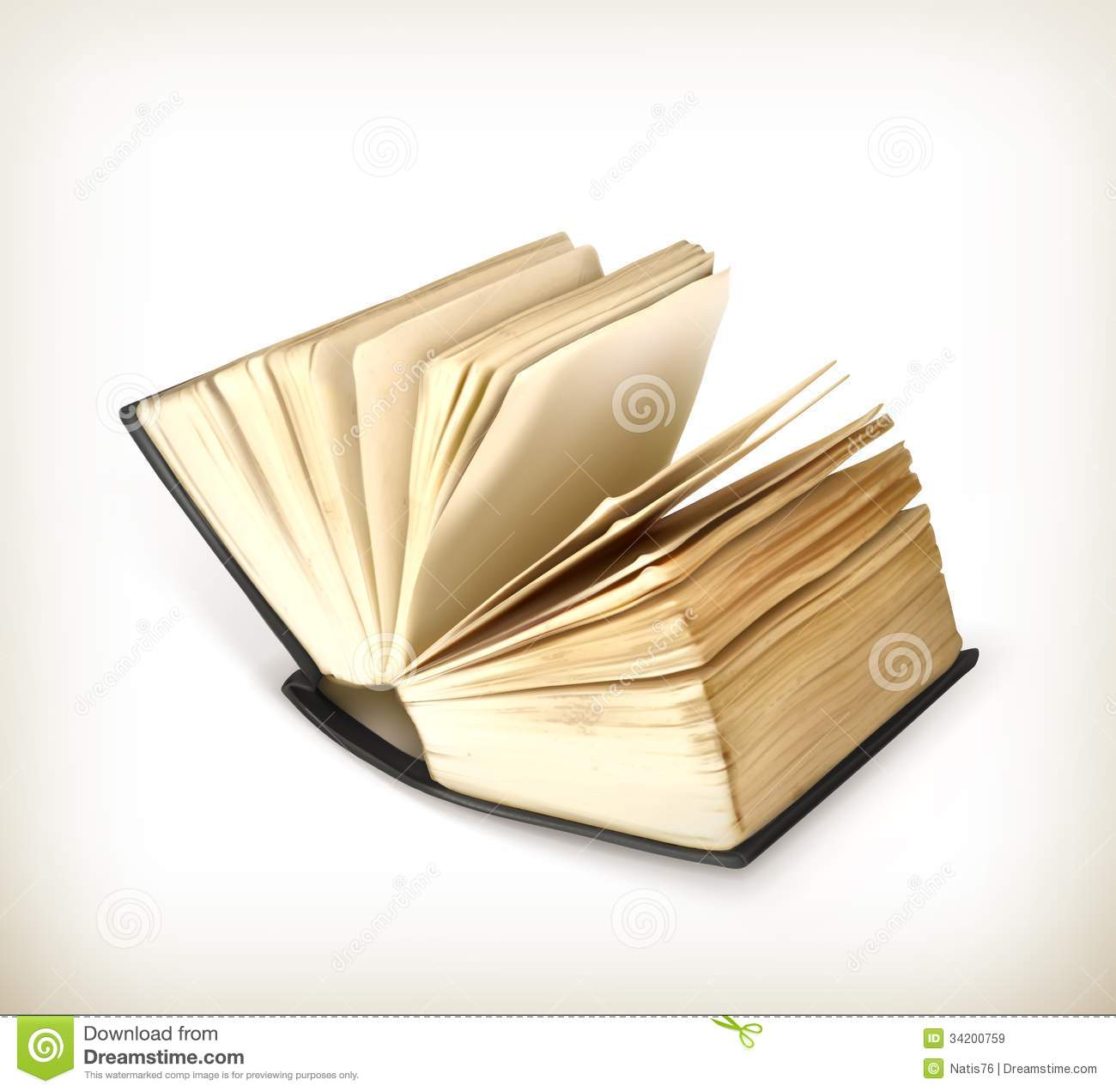 Book Cover Illustration Royalties : Open book icon stock vector image of vintage realistic