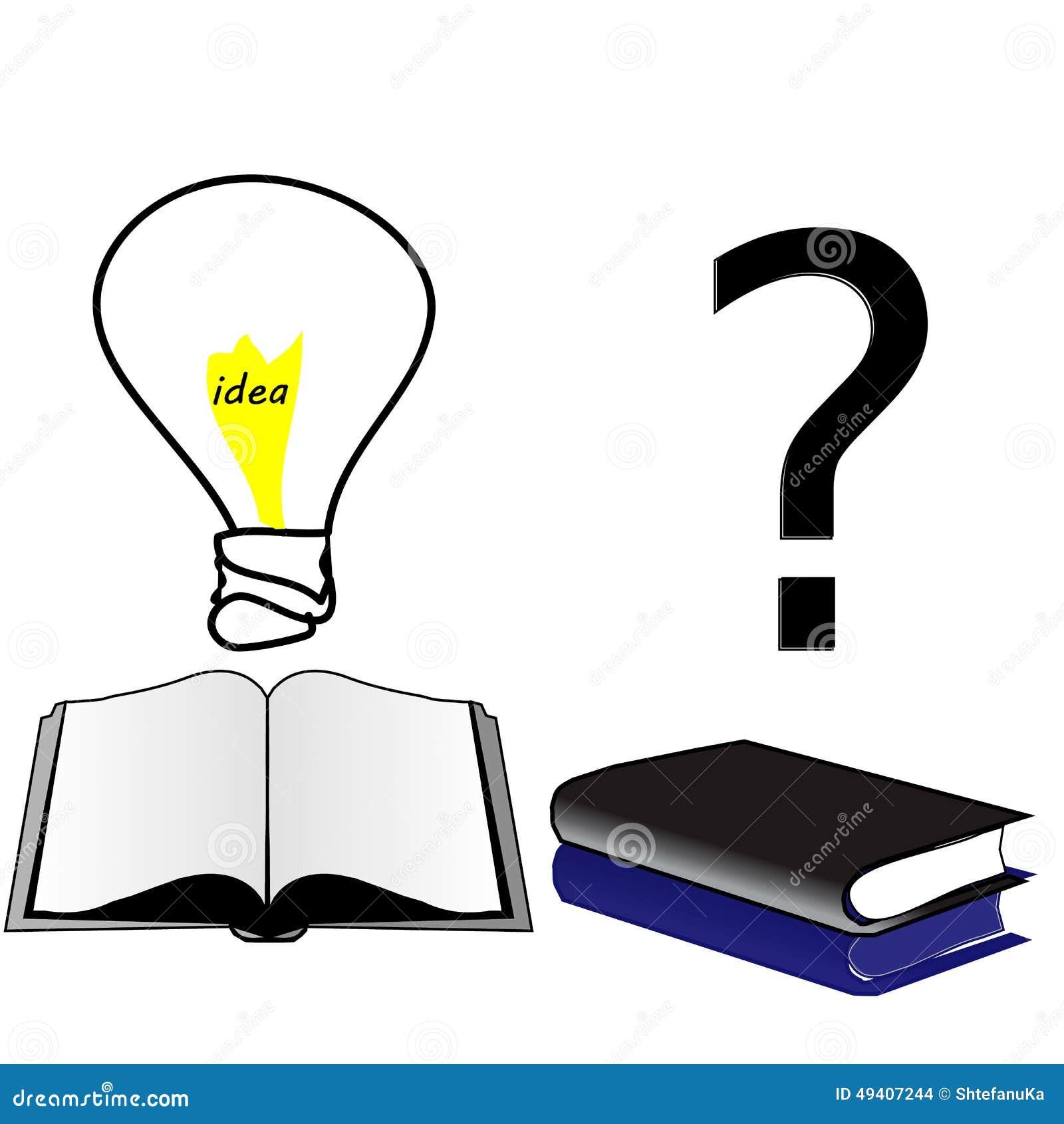 Open Book Idea. Closed Book Ignorance And Lack Of Education Stock ...
