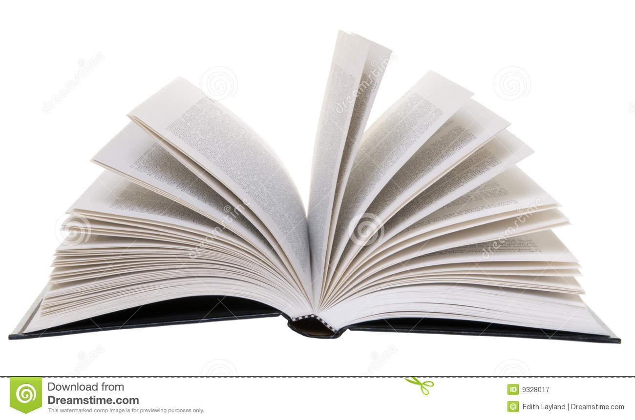 Open Book Isolated Stock Image Image Of Bound Binding