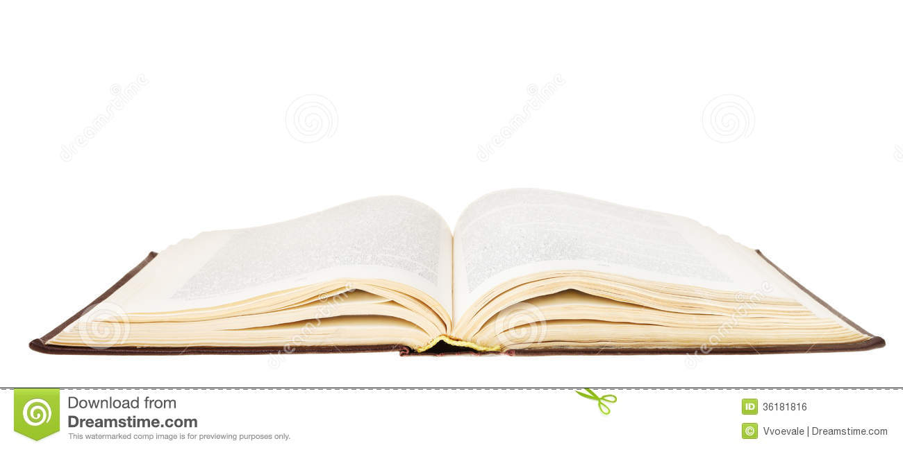 Open Book Isolated On White Background Royalty Free Stock
