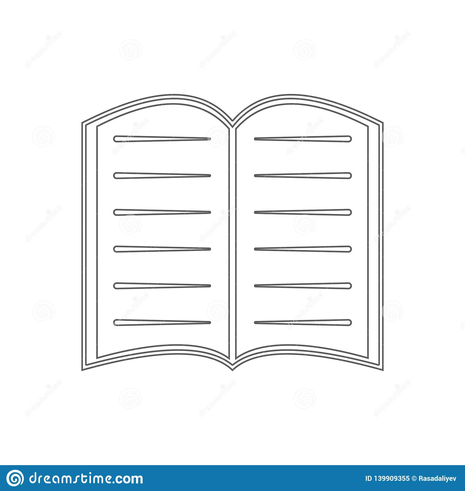 Open Book Logo Icon  Element Of Education For Mobile Concept