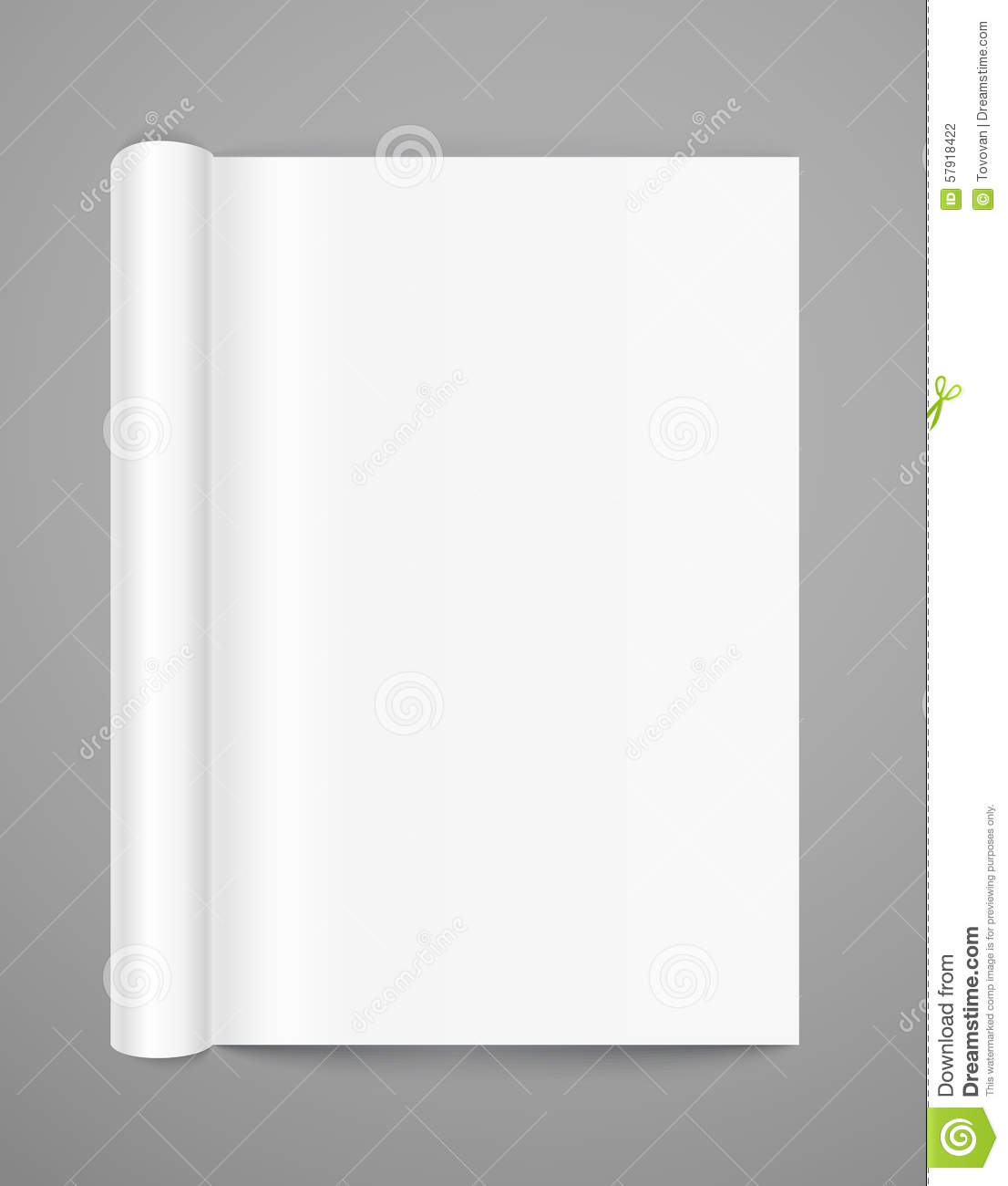 Open Book Page Template Stock Vector - Image: 57918422