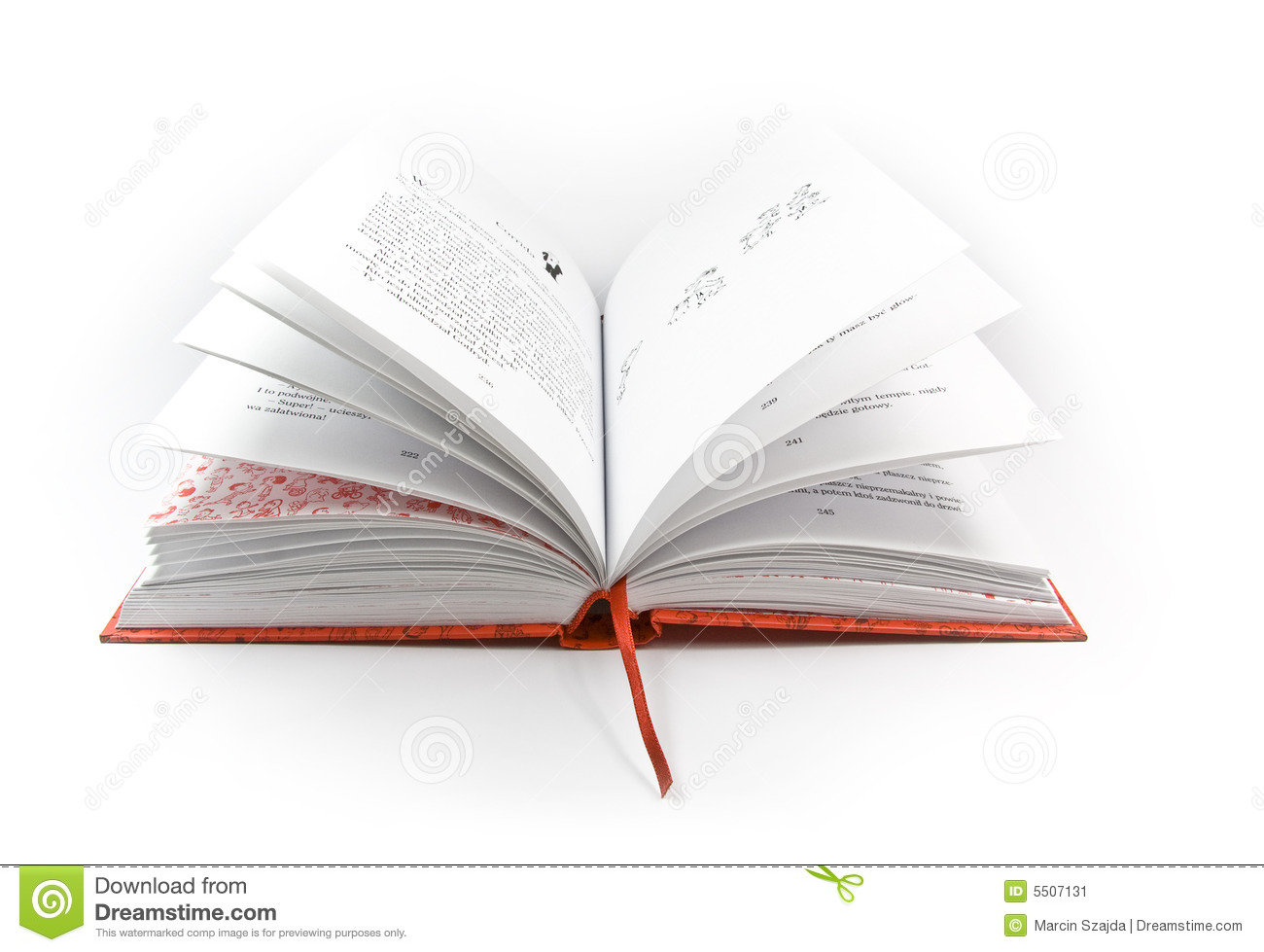 Stock Image  Open book with red coverOpen Book Cover
