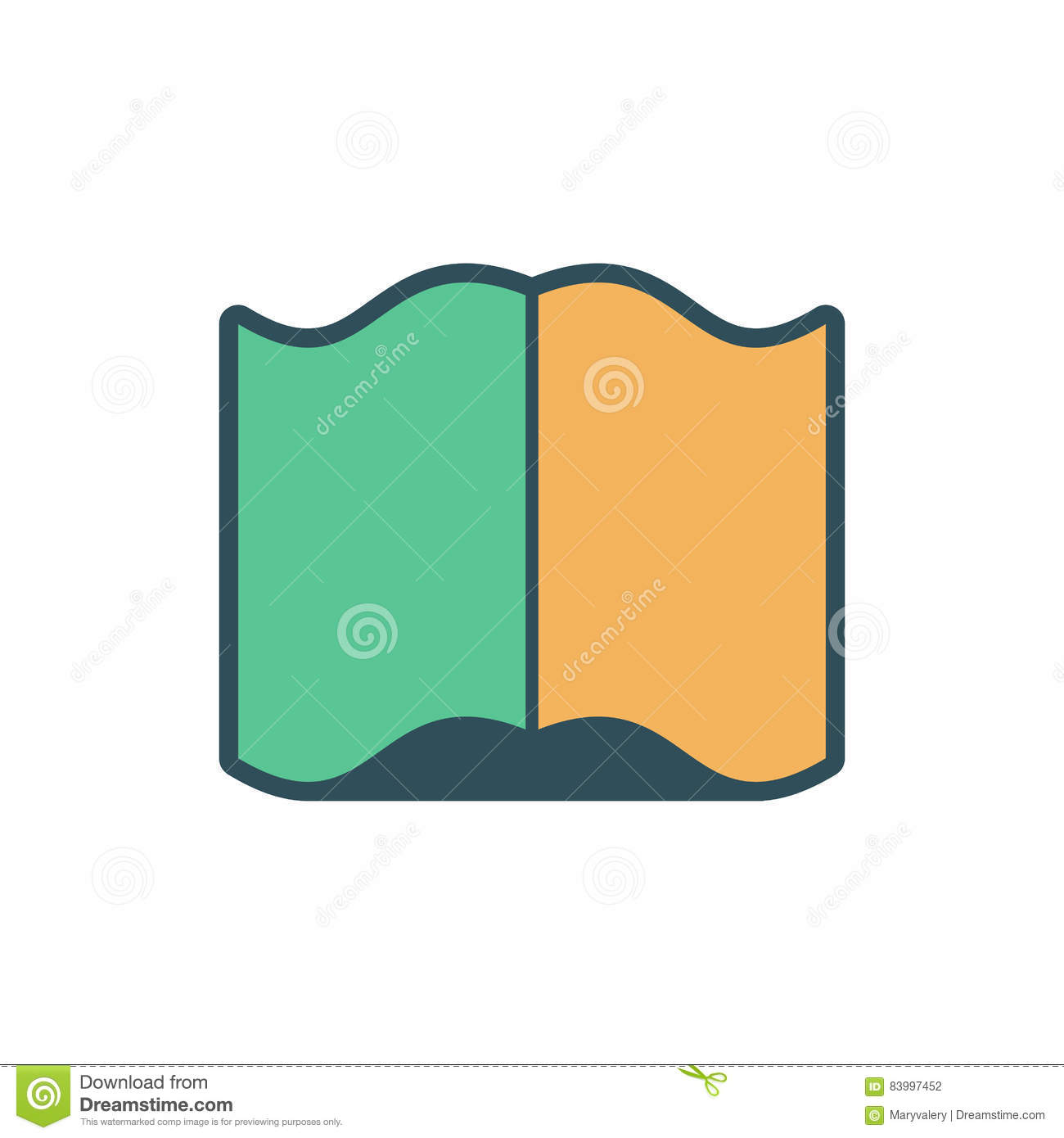 Open Book Sign. Opened Old Volume On White Background Stock Vector ...