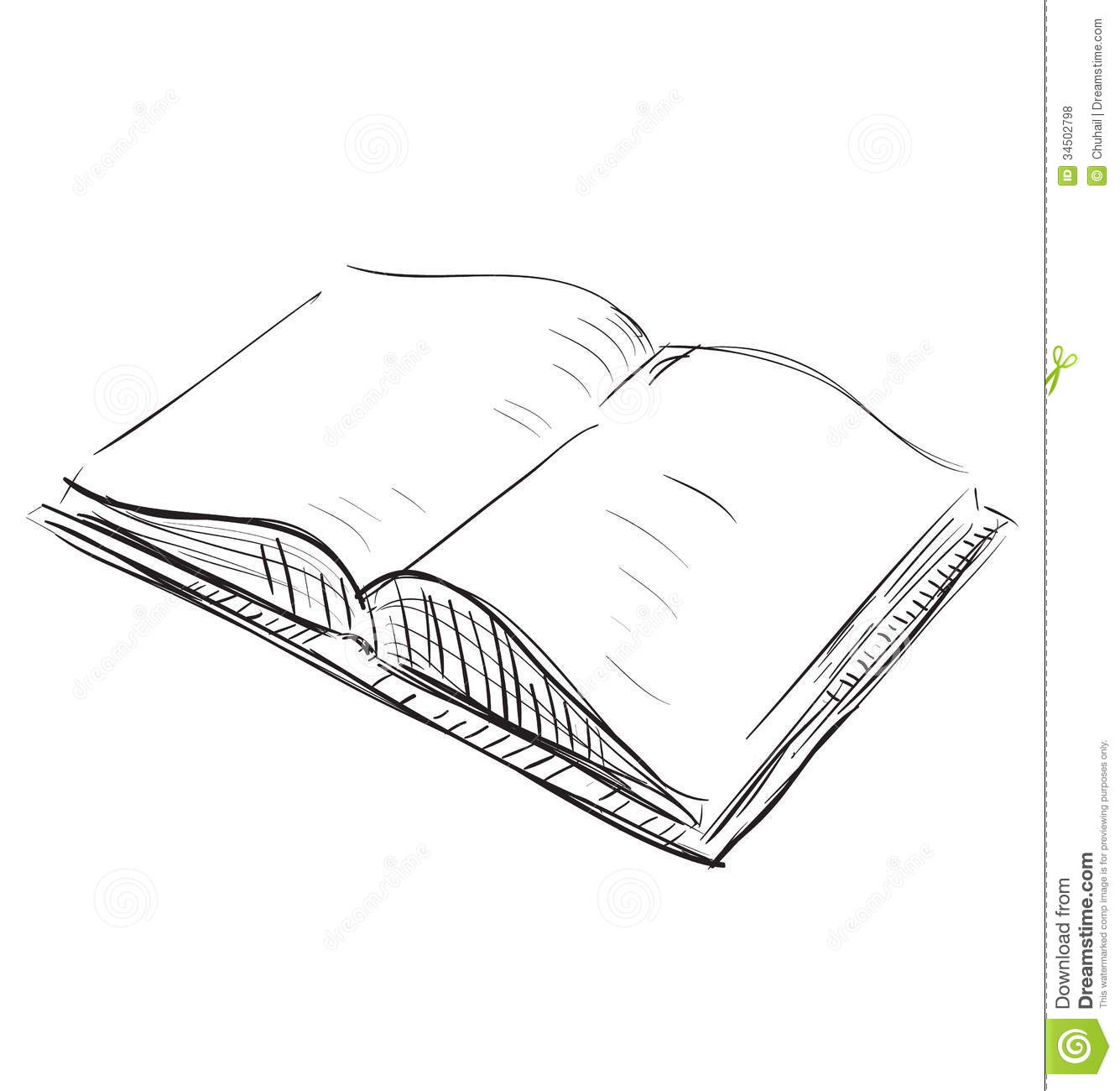 Open Book Sketch Icon Illustration Royalty Free Stock Photos - Image ...