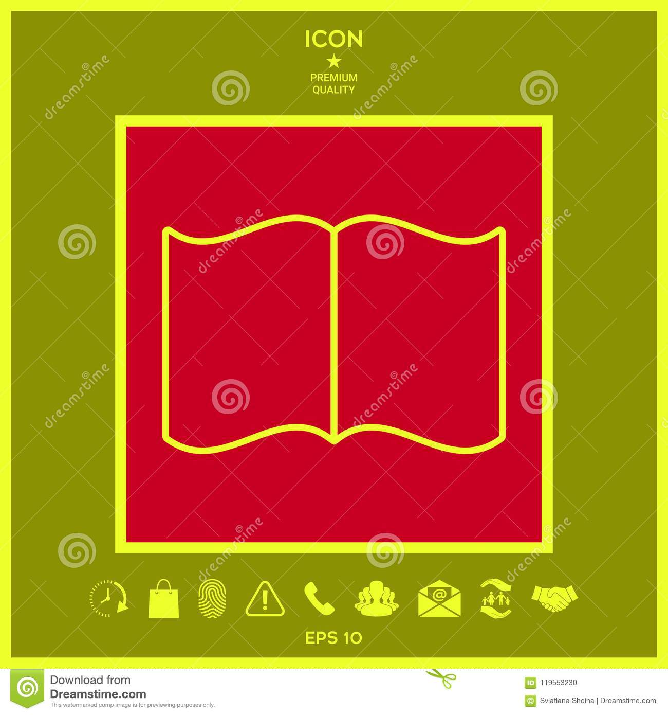 Open Book Symbol Icon Stock Vector Illustration Of Bible 119553230