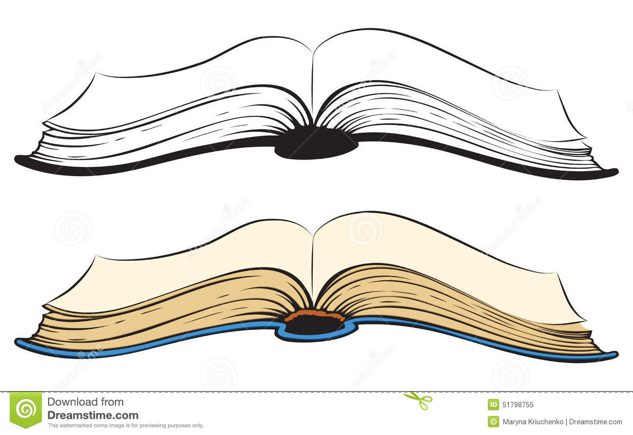 Open book. Vector sketch
