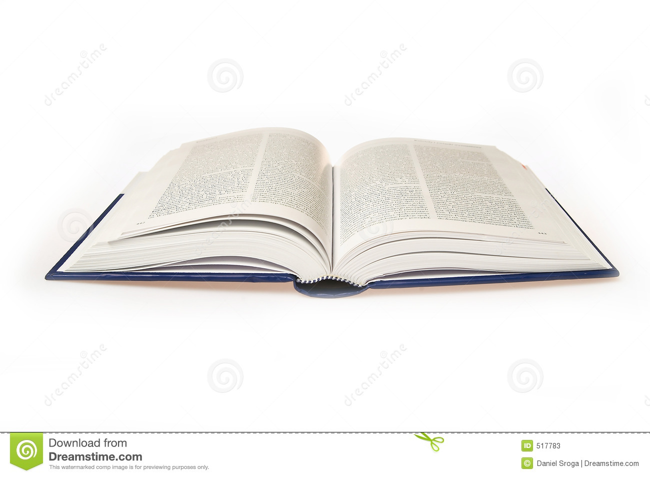 Open Book On A White Background Stock Photos - Image: 517783