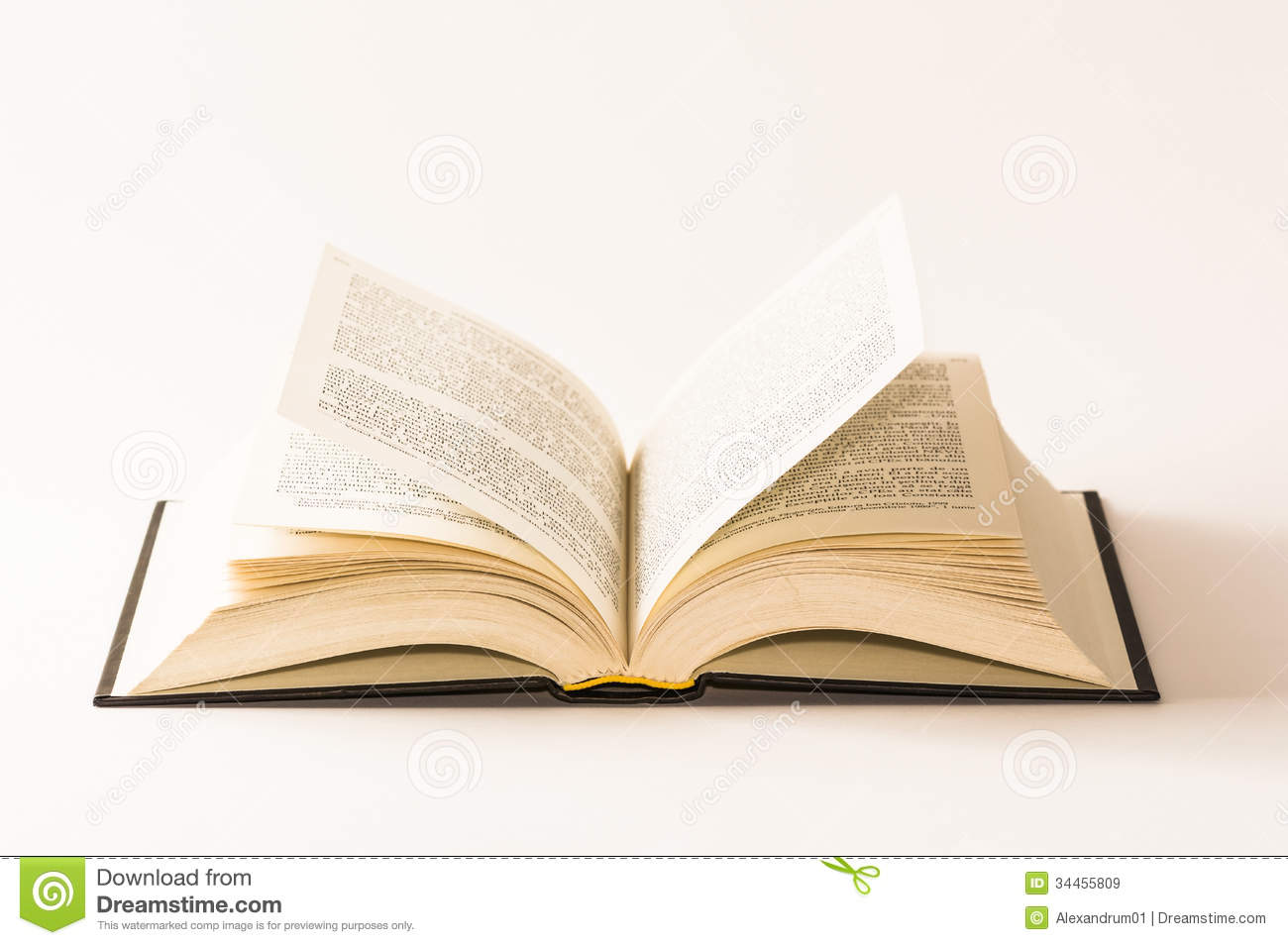 Book Cover White Background : Open book on white background stock image