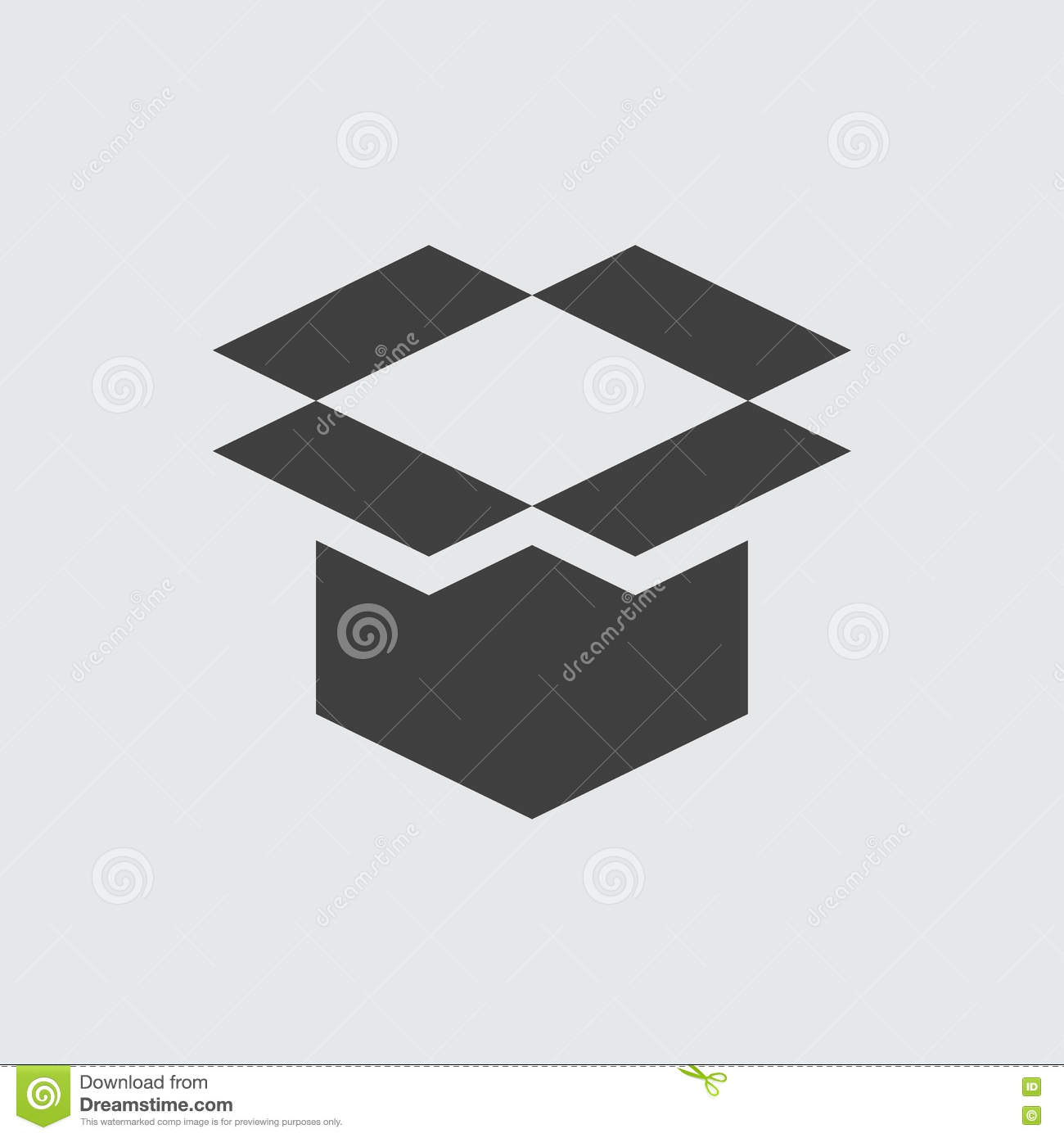 Open box icon illustration stock vector illustration of icon open box icon illustration biocorpaavc Choice Image