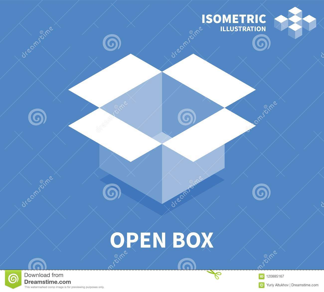 Open box icon isometric template for web design in flat 3d style isometric template for web design in flat 3d style vector illustration maxwellsz
